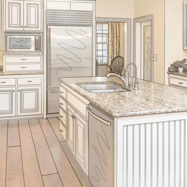 Custom cabinet drawing
