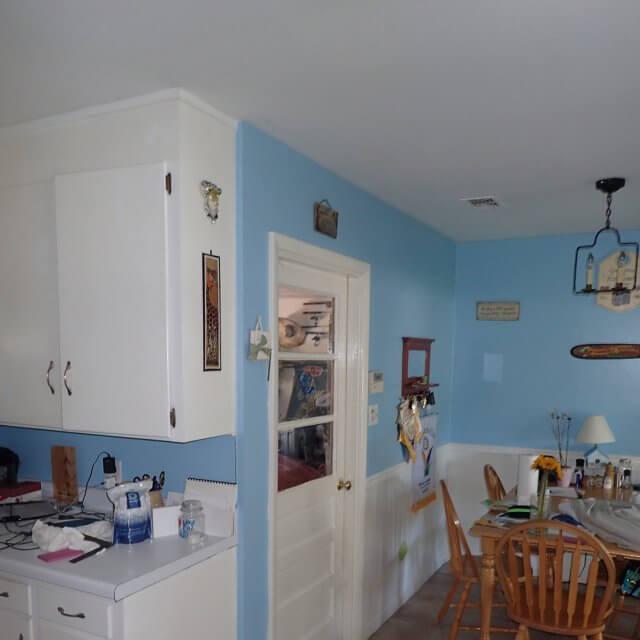 former dining room area