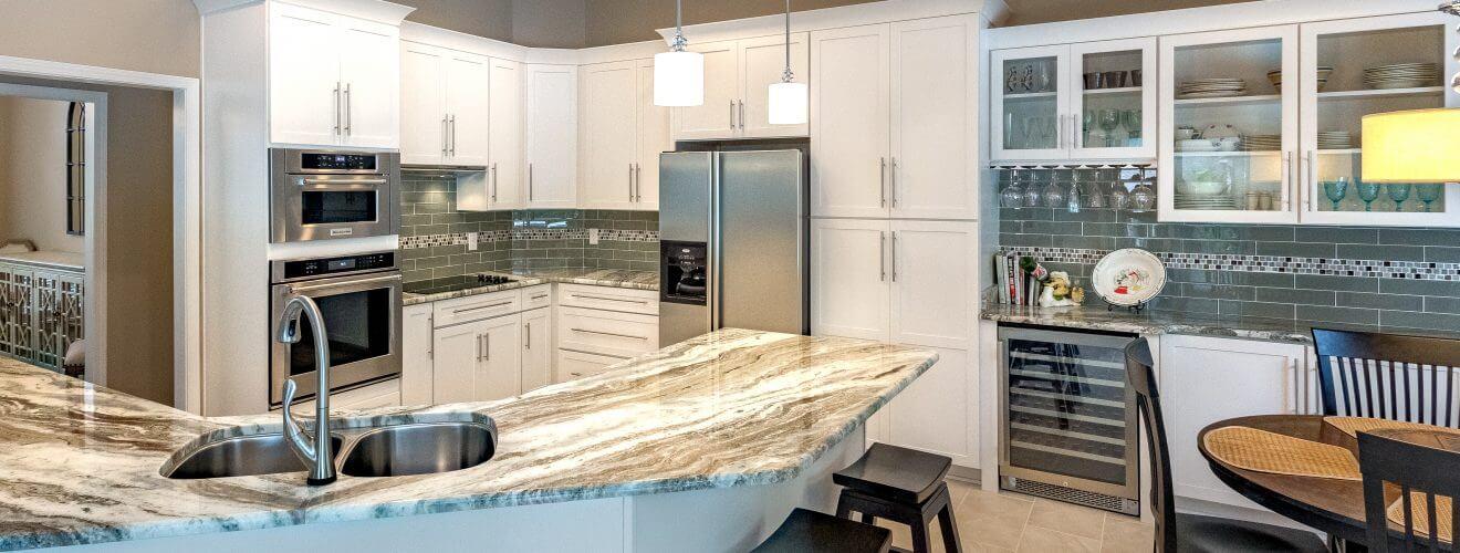 Open Floor Plan Kitchen With Custom Cabinets