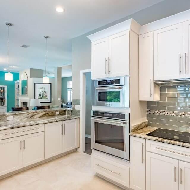 Sleek Shaker cabinets in a modern kitchen